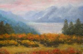 Misty Lake 8 x 10
