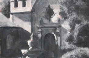 Carmel Mission in Monochrome 6 x 4